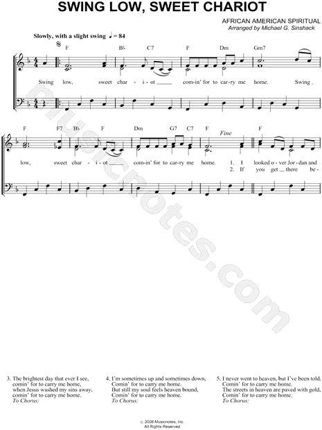 swing low lyrics american spiritual quot swing low sweet chariot