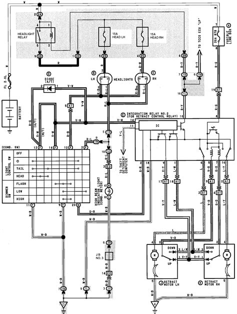 toyota headlight wiring diagram get free image about