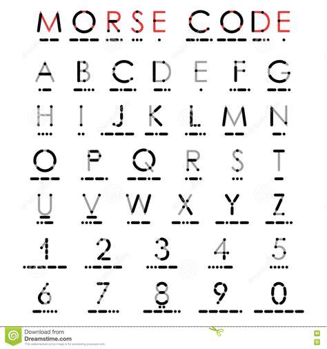 numero lettere alfabeto alfabeto y n 250 meros en c 243 digo morse ilustraci 243 n vector
