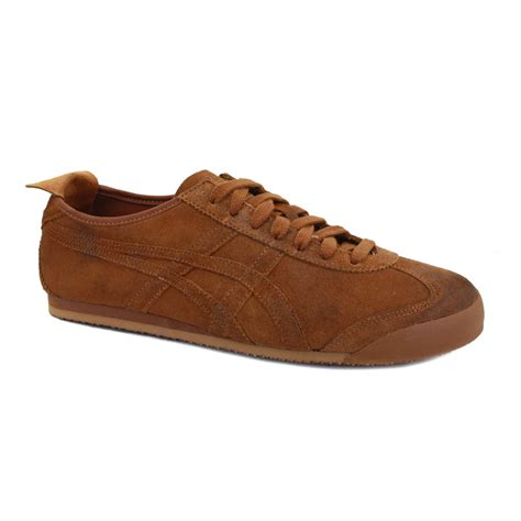 Onitsuka Tiger Suede Brown Original onitsuka tiger mexico 66 su d3v3l 6363 mens suede laced trainers camel