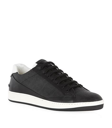 fendi sneakers mens fendi wimbledon tennis sneaker in black for lyst