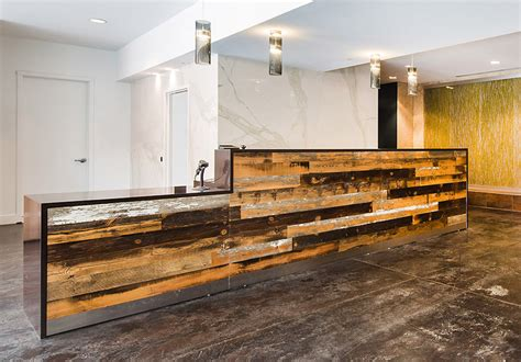 Reclaimed Wood Reception Desk Custom Designs Arnold Contract
