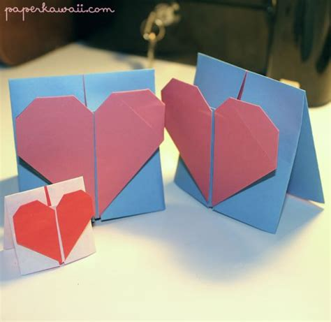 valentine origami tutorial lovers ring origami valentines day card tutorial crafts valentines