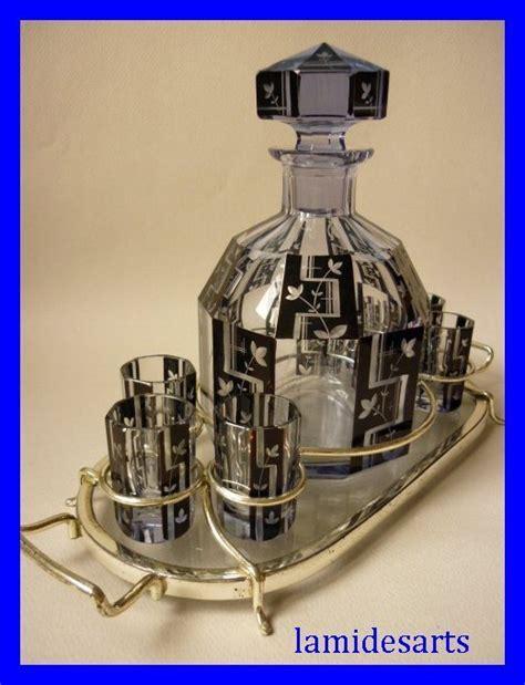 servizio bicchieri cristallo di boemia cristallo di boemia caraffa di liquori 6 bicchieri