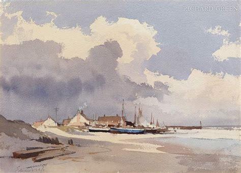 Watercolour Landscape Artists Uk Edward Seago Longshore Boats Norfolk Aquarel