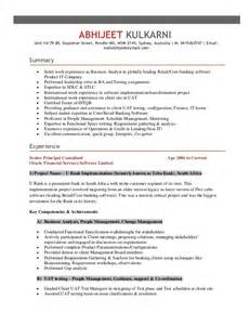 Software Test Analyst Sle Resume by Exle Resume For Software Tester
