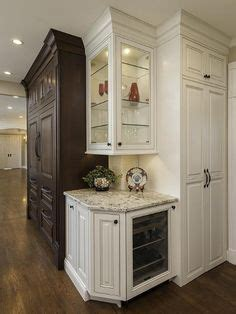 Corner shelves and an angled counter top instead of the