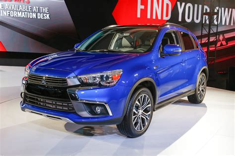 mitsubishi outlander sport 2016 blue 2016 mitsubishi outlander sport debuts with updated styling