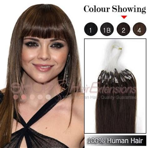 16 inch 2 brown micro 18 24 inches 1g s micro ring remy hair extension