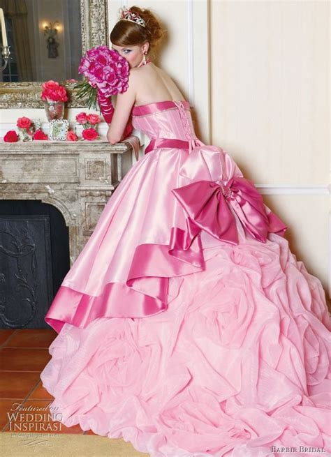 Pink Wedding Dress by Big Pink Wedding Dress Designs For