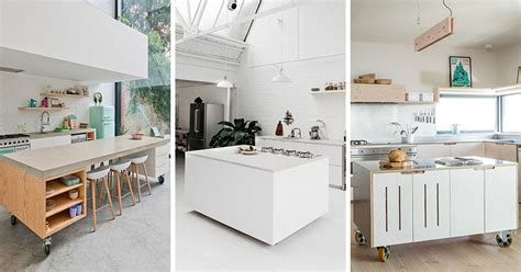 how to build a movable kitchen island 8 exles of kitchens with movable islands that make it easy to change the layout contemporist