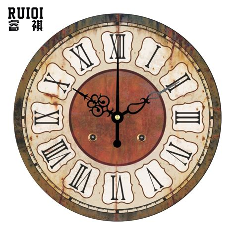 decorative clock retro wall decor clocks absolutely silent wall clock
