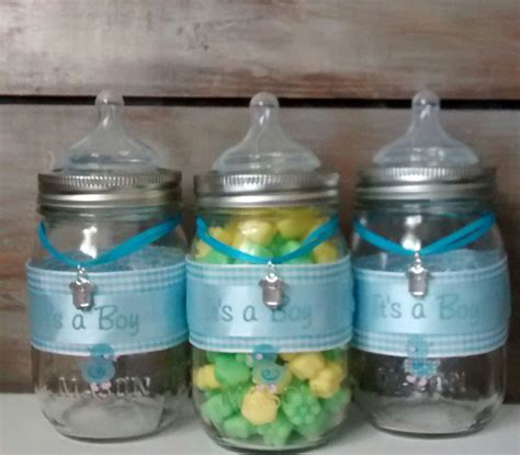 Jars For Baby Shower by Baby Shower Favor Jars Blue Baby Bottle Baby