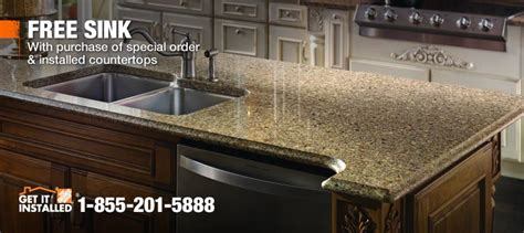 Laminate Kitchen Countertops Home Depot by Countertop Installation Granite Laminate Quartz And