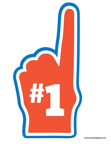 printable hockey photo booth props foam finger from basketball blue orange printable photo
