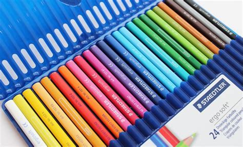 staedtler ergosoft colored pencils staedtler ergo soft triangular coloured pencils 24 pack