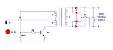identify diagram 3v electronic stun gun circuit