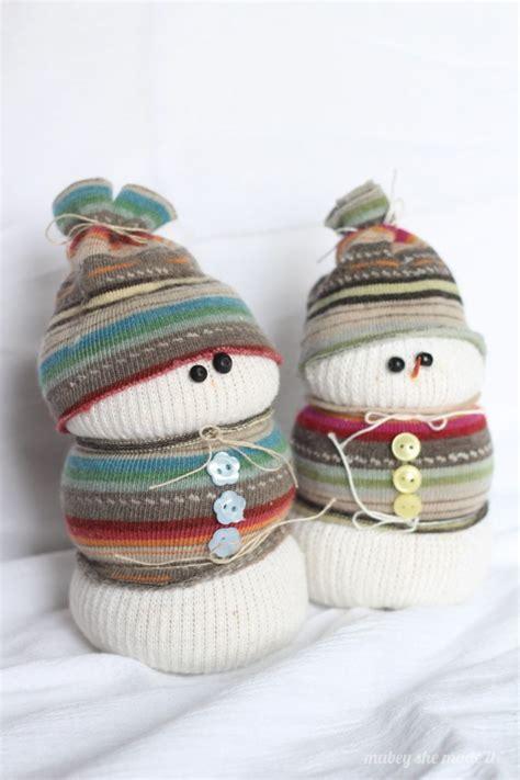 sock bean snowman sock snowman mabey she made it