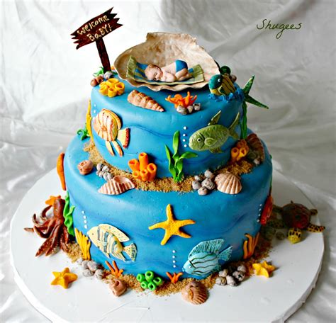 The Sea Cakes For Baby Shower by The Sea Baby Shower Cake Baby Cake Imagesbaby Cake