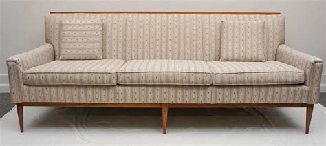 wood trimmed sofas 1950s midcentury paul mccobb wood trim sofa for sale at