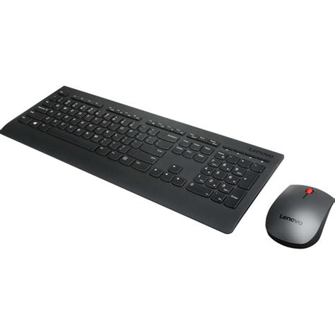 Keyboard Wireless Lenovo lenovo wireless keyboard and mouse combo kit 4x30h56796 b h