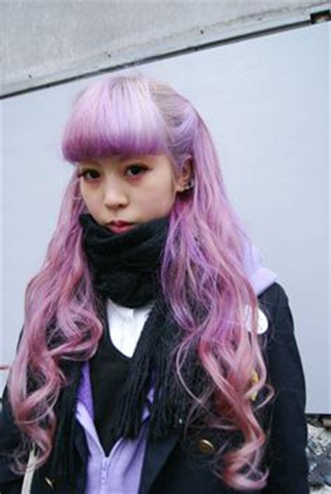 old japanese ladies purple hair tokyo harajuku kawaii girls fashion cute pop vivid neon