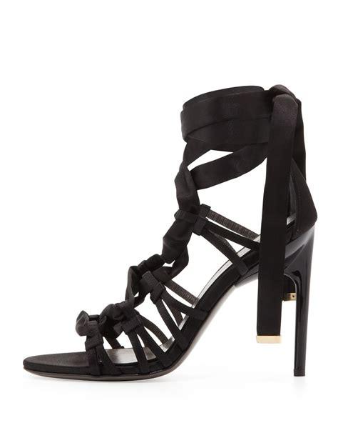 Sandal Slop Geox jason wu satin strappy sandal black in black lyst