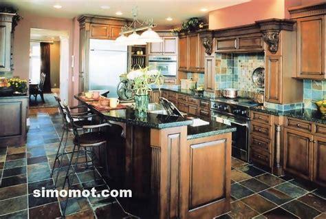 desain interior dapur mewah foto desain interior dapur kayu mewah 25