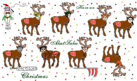 best art of santa and eight teindeer and eight tiny reindeer by aelibia on deviantart
