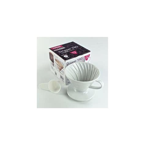 Dripper V60 Keramik by Hario V60 Filterholder Hvid Keramik 1 Kop Vdc 01w Hario