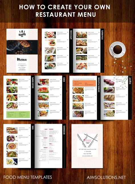 this is your template how to create your own restaurant menu drink menu bar