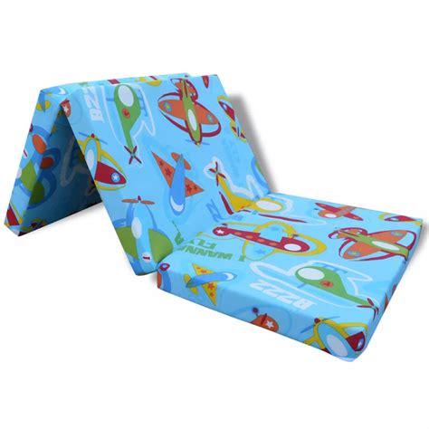 materasso per bambini vidaxl materasso pieghevole per bambini fantasia aerei