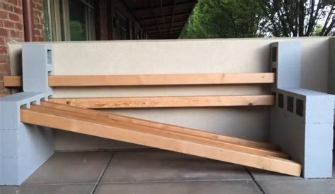 how to build a bench out of cinder blocks make an awesome cinder block bench in just a couple of hours