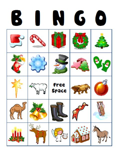 search results for free printable christmas bingo
