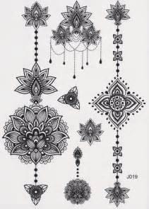 aiyana tribal lotus temporary tattoo lotus tattoo