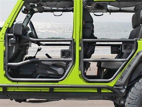 rugged ridge front tube door set  textured black    jeep wran fortecx