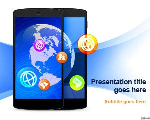 presentation themes for communication free mobile communication powerpoint template