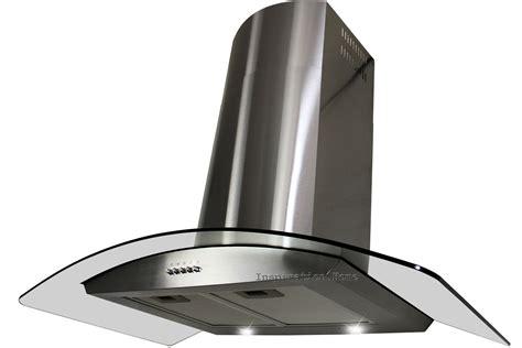 "30"" Kitchen Wall Mount Stainless Steel Glass Range Hood"