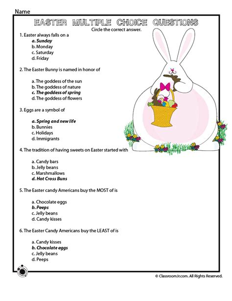 easter trivia questions ii trivia ch easter reading comprehension quiz answer key woo jr