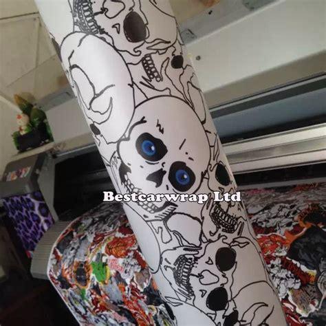 pattern vinyl wrap cool skull pvc car pattern decorative vinyl sheet for car