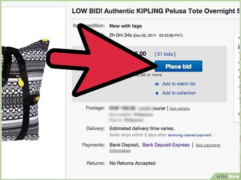 ebay bid 3 formas de ofertar en ebay wikihow