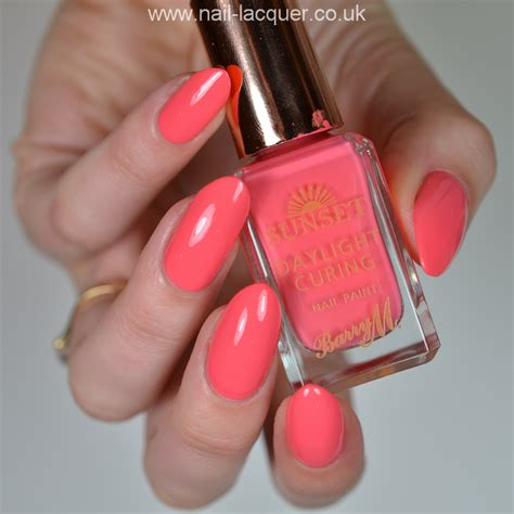 M Sunset barry m daylight curing nail nail lacquer uk