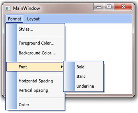Wpf Menu Template item template and style