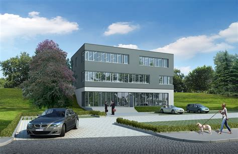 Modern Home Office Free Photo Office Building Villa Rendering Free Image