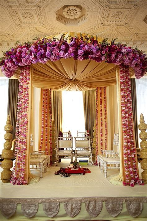 indian wedding decorations elegant regal mandap floral