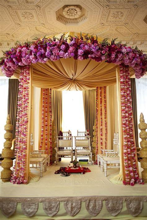 indian wedding decorations regal mandap floral wedding and indian weddings