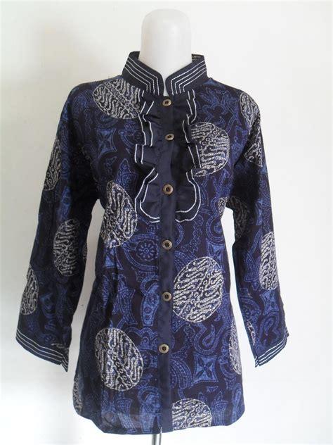 Blus Batik Biru Xl blus batik sukma batik jogja