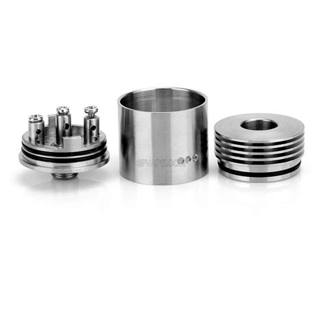 tobh atty v2 5 style rda rebuildable atomizer silver stainless steel 22mm diameter