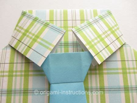 easy origami shirt with tie crafts