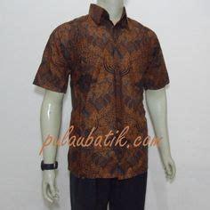 Baju Batik Lelaki Ipoh model kemeja batik pria lengan pendek warna hitam kombinasi krem bahan dari katun hanya 65 000